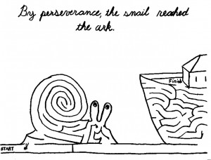 Snail maze by Elizabeth Kuhl, all rights reserved